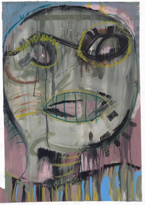 acrylic,pastel on paper 70x100cm
