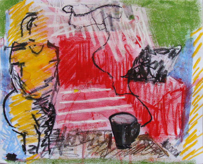 oil pastel on paper3